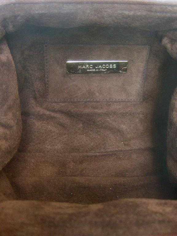 Marc Jacobs Italian Brown Leather Diminutive Handbag  For Sale 5
