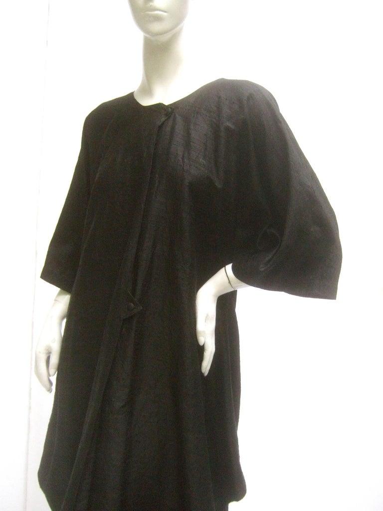 Avant Garde Minimal Japanese Raw Silk Black Dress by ...
