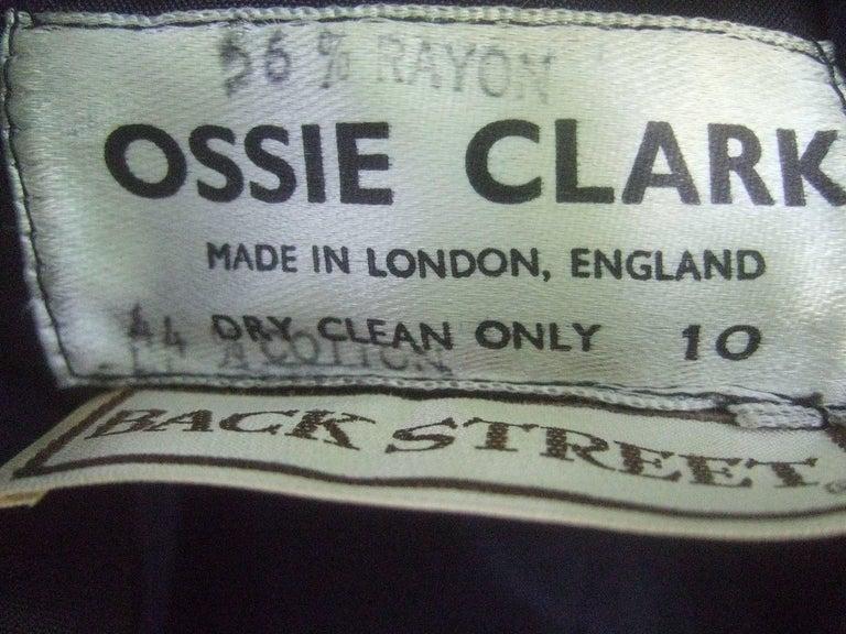 Ossie Clark Midnight Blue Velvet Jacket with Tassels. Early 1970's. 9