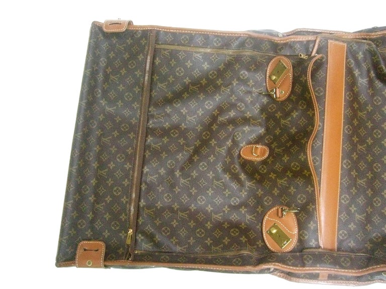 Louis Vuitton Shabby Chic Well Loved Garment Travel Case C 1970s gYXjgc5H