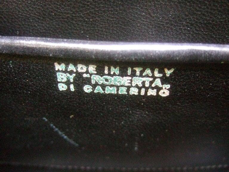 Roberta Di Camerino Italian Chic Velvet Striped Handbag c 1970  For Sale 4