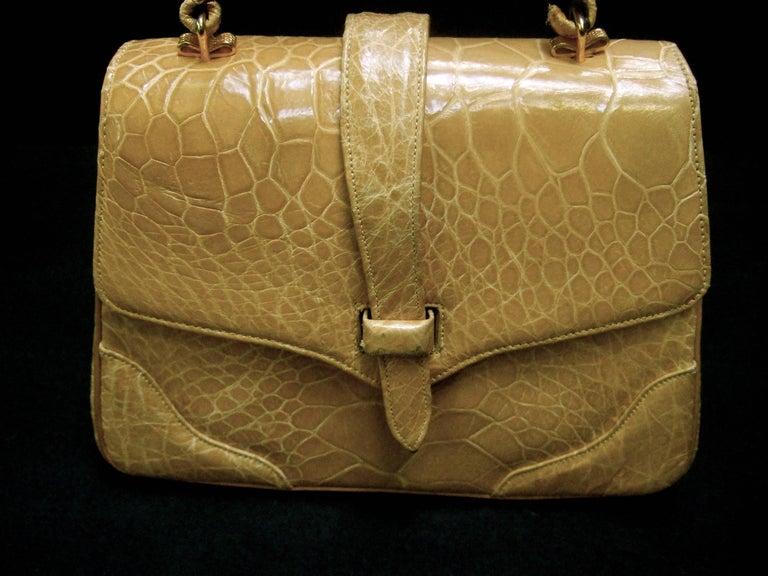 Lucille de Paris Stylish Reptile Handbag c 1960 3