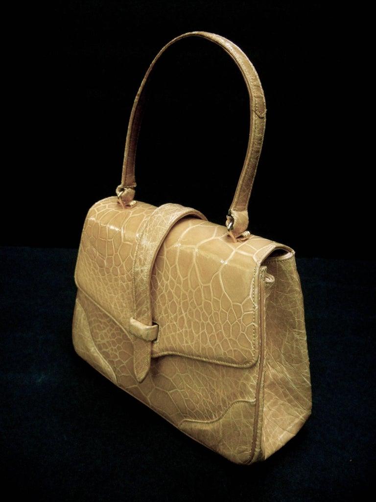 Lucille de Paris Stylish Reptile Handbag c 1960 4