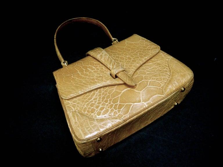 Lucille de Paris Stylish Reptile Handbag c 1960 5