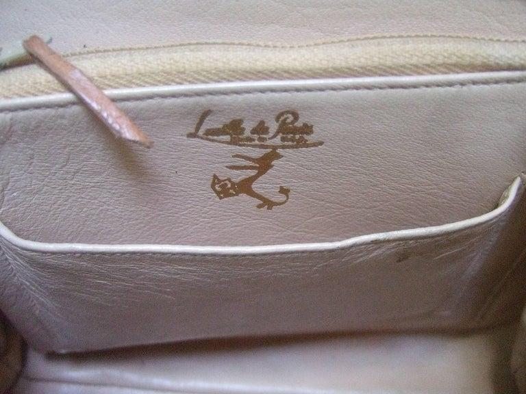 Lucille de Paris Stylish Reptile Handbag c 1960 10