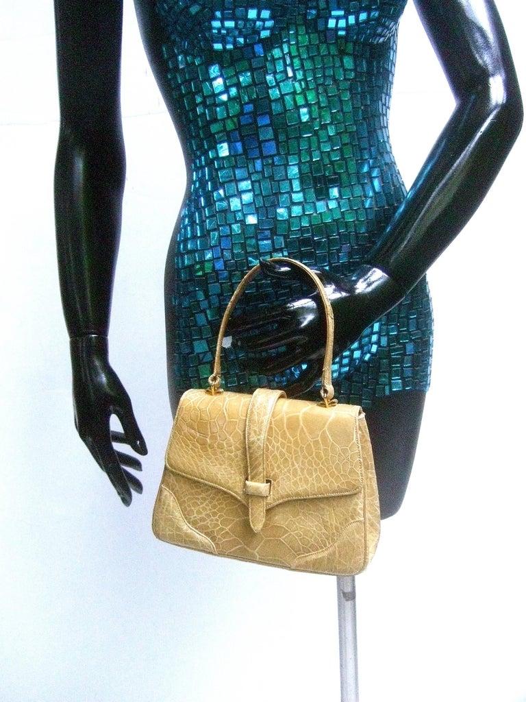 Lucille de Paris Stylish Reptile Handbag c 1960 6