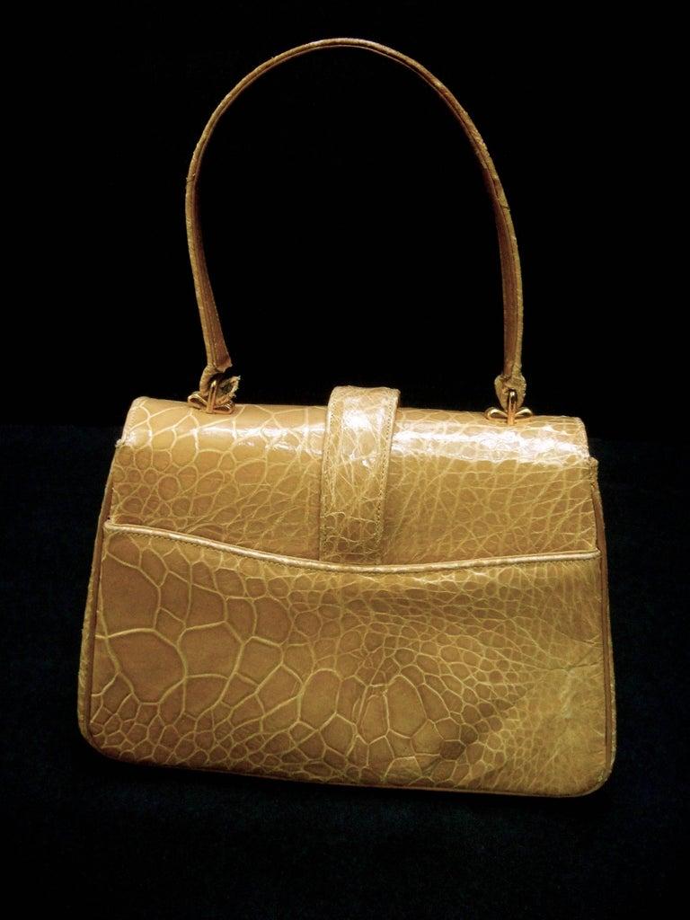 Lucille de Paris Stylish Reptile Handbag c 1960 9