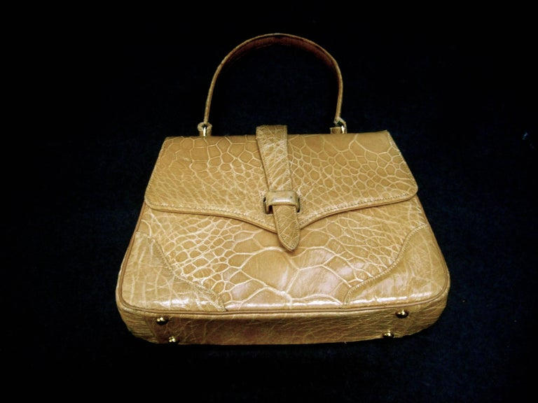 Lucille de Paris Stylish Reptile Handbag c 1960 8