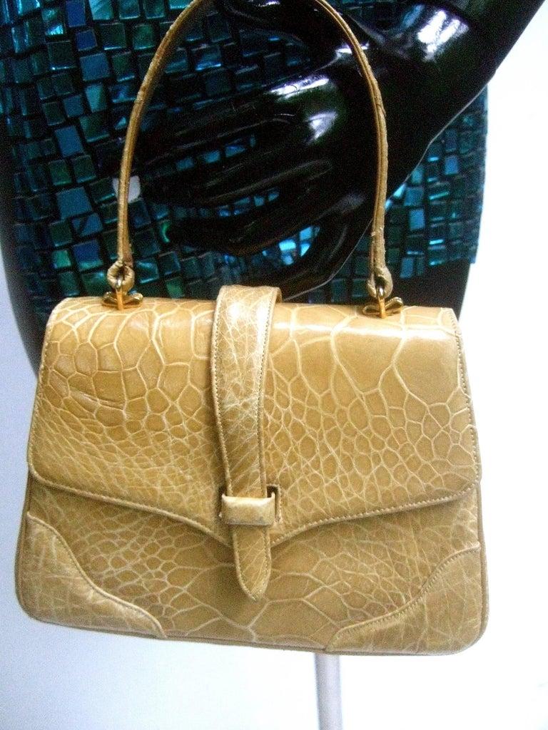 Lucille de Paris Stylish Reptile Handbag c 1960 7