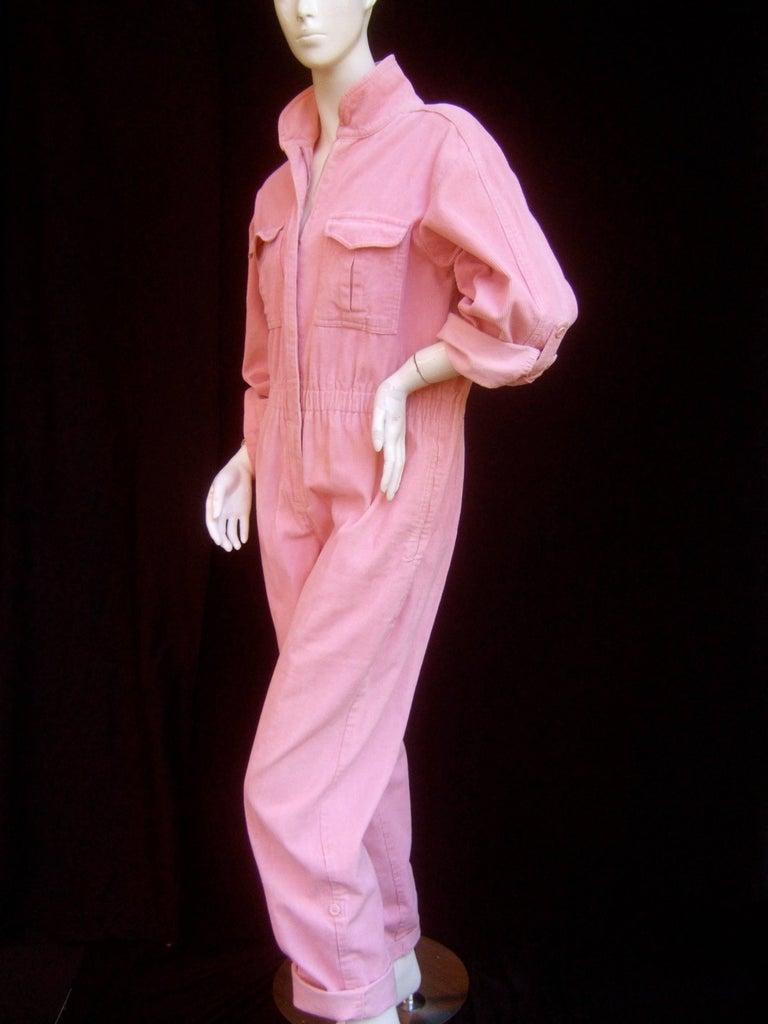 Diane Von Furstenberg Vintage Pink Corduroy Jumpsuit C