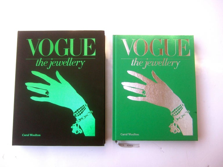 Vogue The Jewellry Hard book in the presentation box by Carol Woolton The comprehensive book is an archive of Vogue's 20th century  photographers; featuring a vast assortment of celebrities adorned with an array of jewelry from the worlds preeminent
