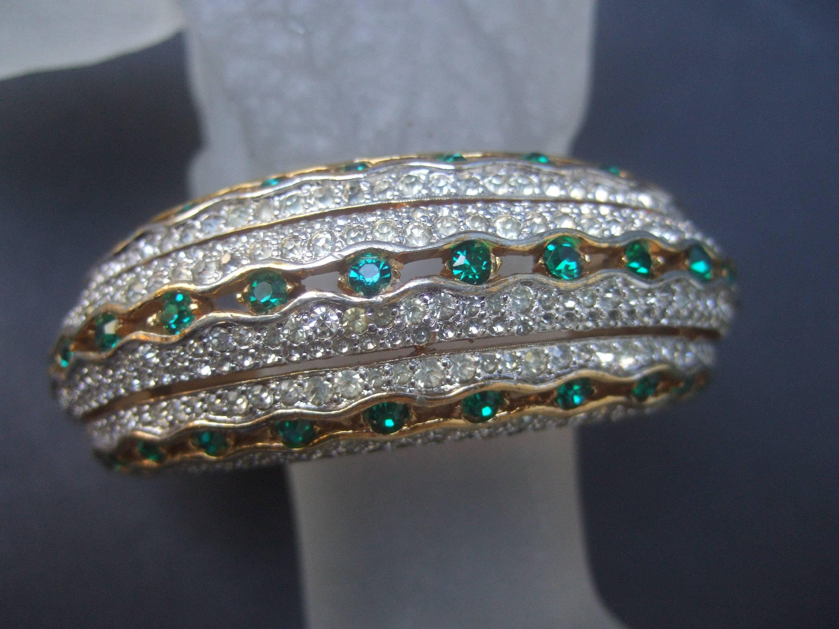 Exquisite Colored Design Bracelet Hinged Bangle Women Fashion Costume Jewelry