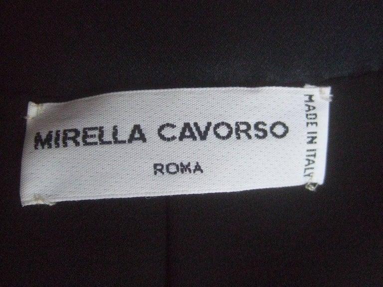 Mirella Cavorso Italian Black Silk Beaded Tuxedo Style Evening Jacket  For Sale 5