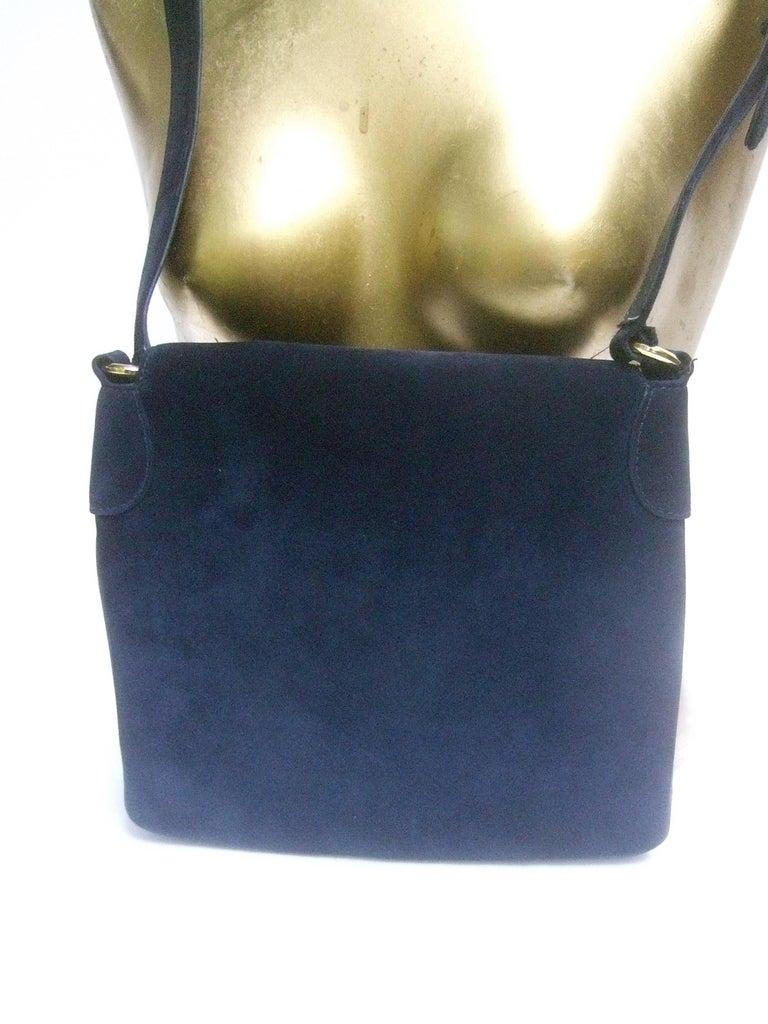 Gucci Rare Midnight Blue Equine Emblem Shoulder Bag c1970s For Sale 5