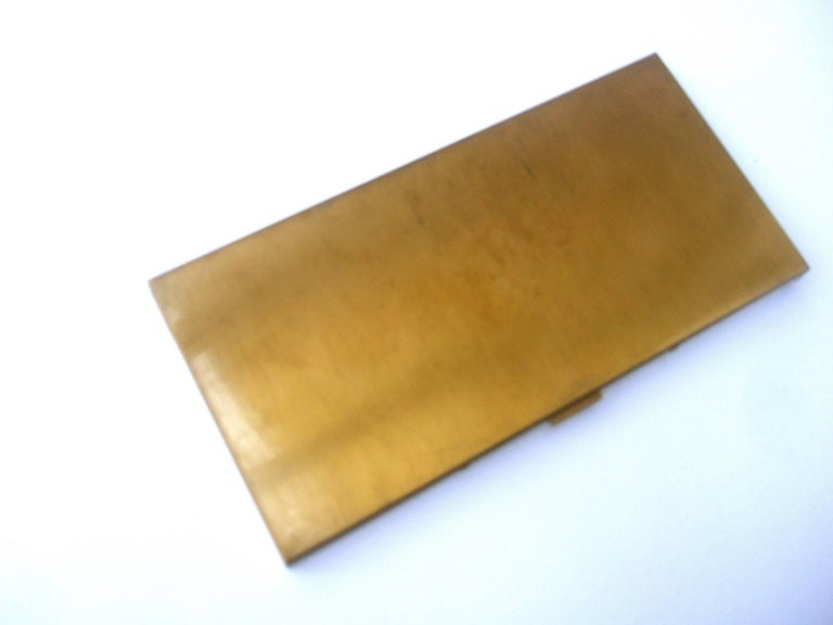 Mid Century Brass Metal Equine Cigarette Case c 1960 For Sale 2