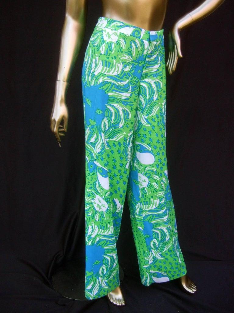 Lilly Pulitzer Women's Vibrant Tiger Print Slacks US Size 6  For Sale 5