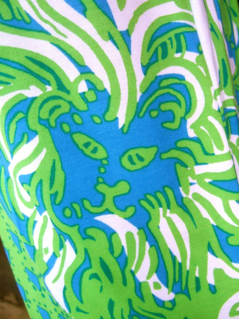 Lilly Pulitzer Women's Vibrant Tiger Print Slacks US Size 6  For Sale 2