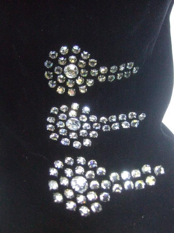 Black Crystal Velvet Matador Style Bolero Jacket  9
