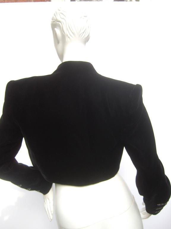 Black Crystal Velvet Matador Style Bolero Jacket  7