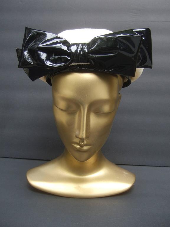 Lilly Dache Parisian Style Bow Trim Hat c 1970 6