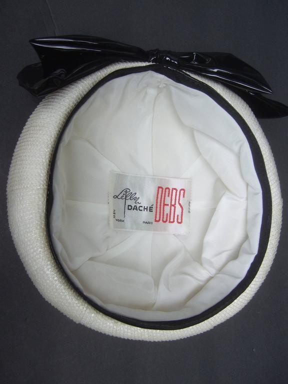 Lilly Dache Parisian Style Bow Trim Hat c 1970 7