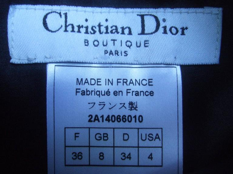 Christian Dior Paris Chic Black Leather Bondage Dress  9
