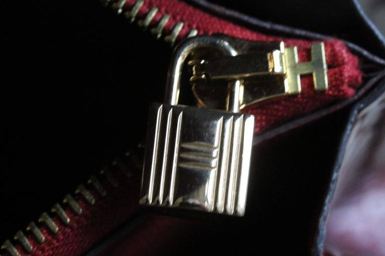 Hermès Kelly Croc Gold Hardware Clutch Pochette Wallet For Sale 1