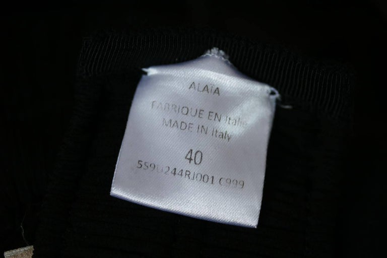 Azzedine Alaia Ruched Pleated Top and Skirt  In Excellent Condition For Sale In London, GB