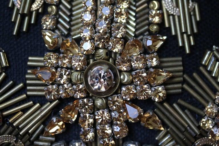 Alexander McQueen The Skull Swarovski Crystal Embellished Box Clutch For Sale 1