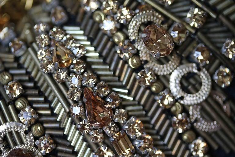Alexander McQueen The Skull Swarovski Crystal Embellished Box Clutch For Sale 2