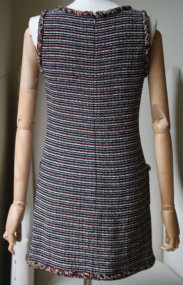 Women's or Men's Chanel Wool Tweed Mini Dress For Sale