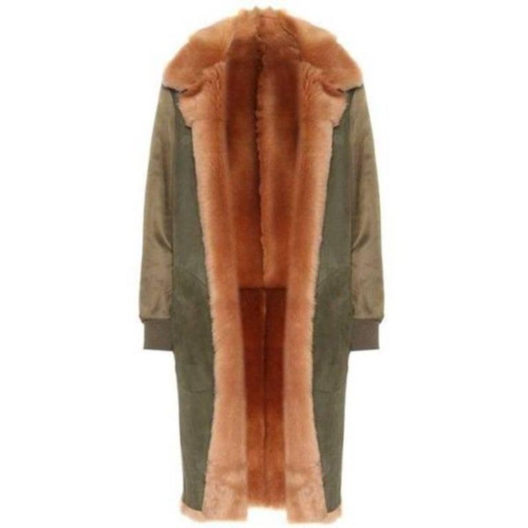 Valentino Shearling-Lined Reversible Coat