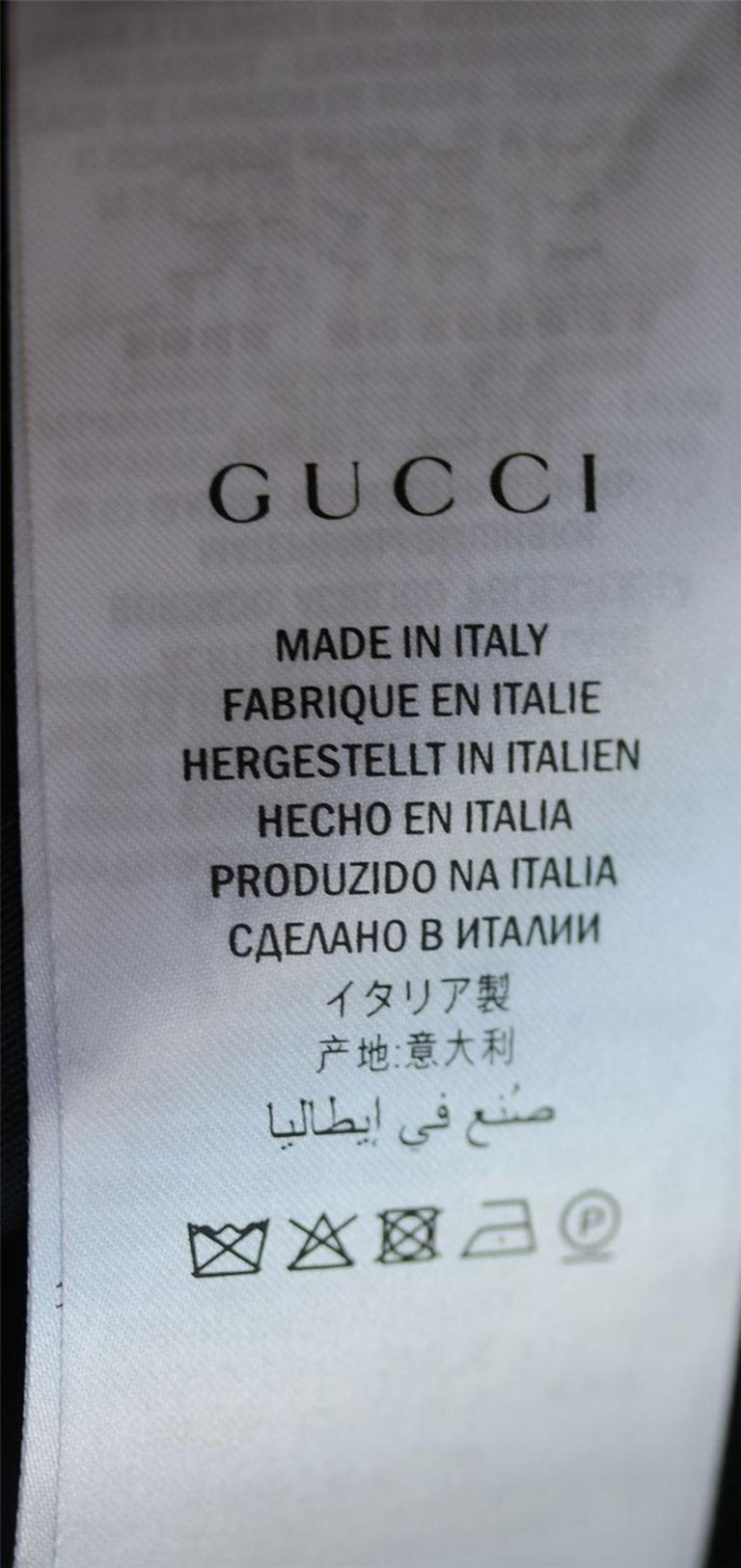 Gucci Embroidered Studded Denim Jacket For Sale 2