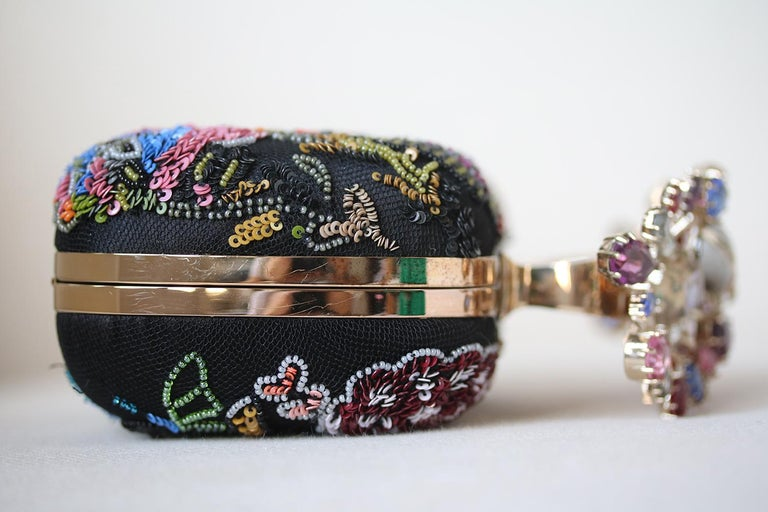 Alexander McQueen Beaded Embroidered Cutch For Sale 1