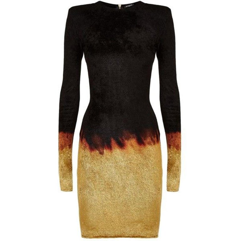 Balmain Chenille Ombre Sheath Dress For Sale