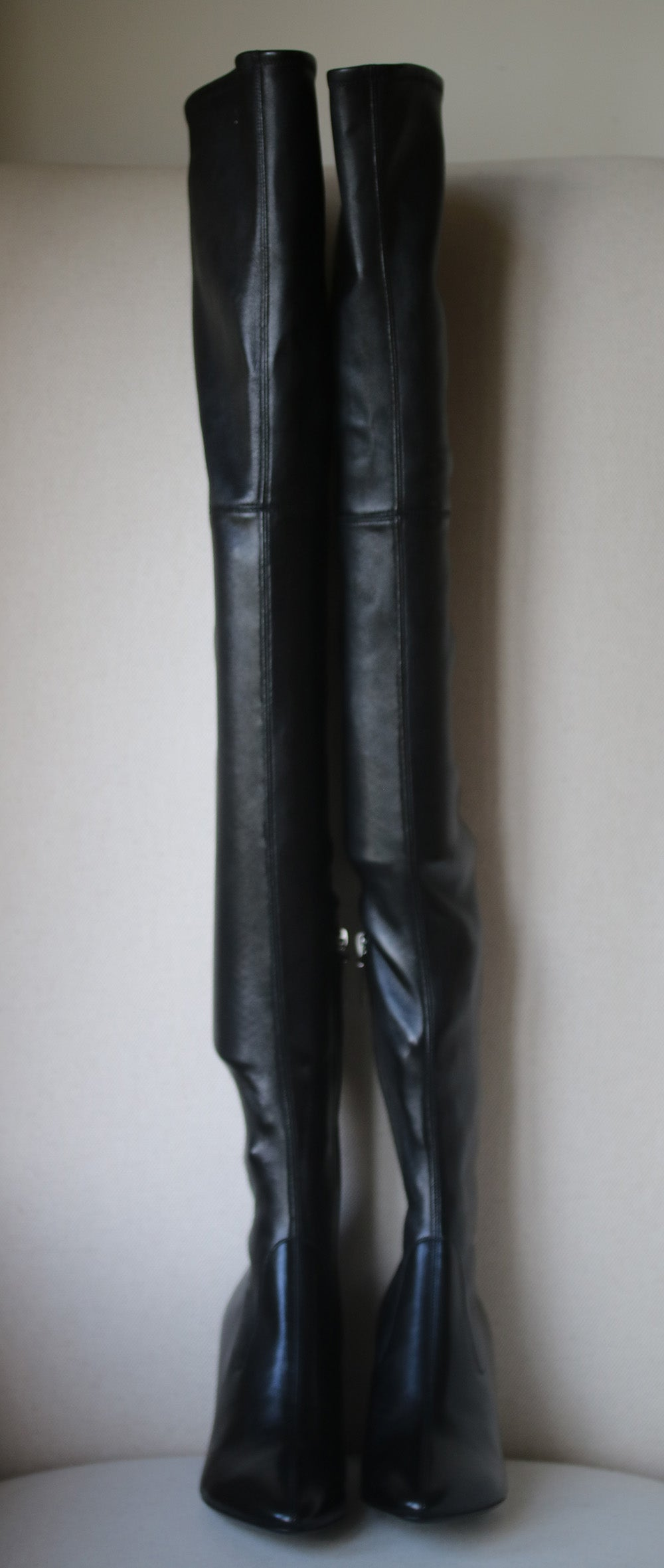 cc65d4f07ef Saint Laurent Loulou Leather Over-The-Knee Boots at 1stdibs