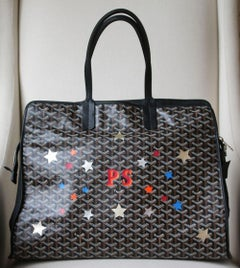 Goyard Personalised Hardy GM Canvas Leather Tote and Dog Bag