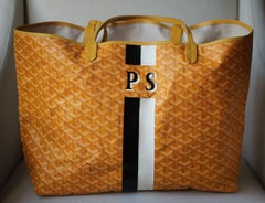 Goyard Personalised Saint Louis GM Leather Tote Bag