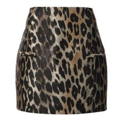 Balmain Leopard-Jacquard Mini Skirt