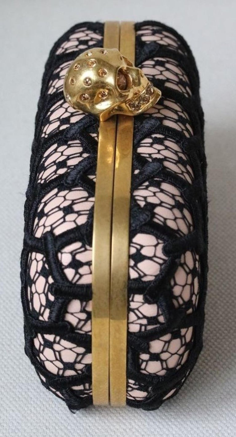 Women's or Men's Alexander McQueen Honeycomb Skull Box Clutch  For Sale