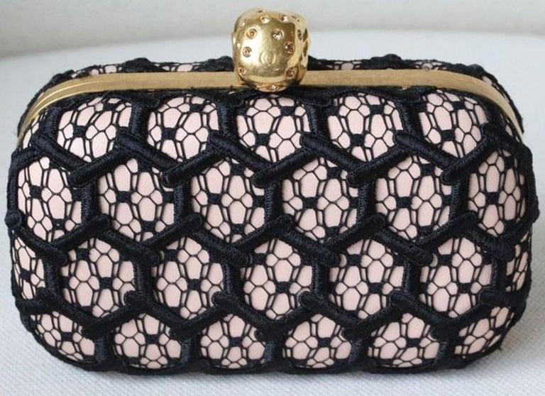 Alexander McQueen Honeycomb Skull Box Clutch  For Sale 2