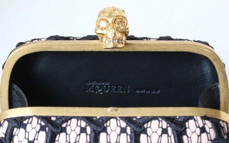 Alexander McQueen Honeycomb Skull Box Clutch  For Sale 3
