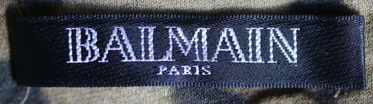 Women's Balmain Leopard-Print Silk Dress For Sale