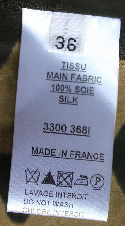 Balmain Leopard-Print Silk Dress For Sale 1