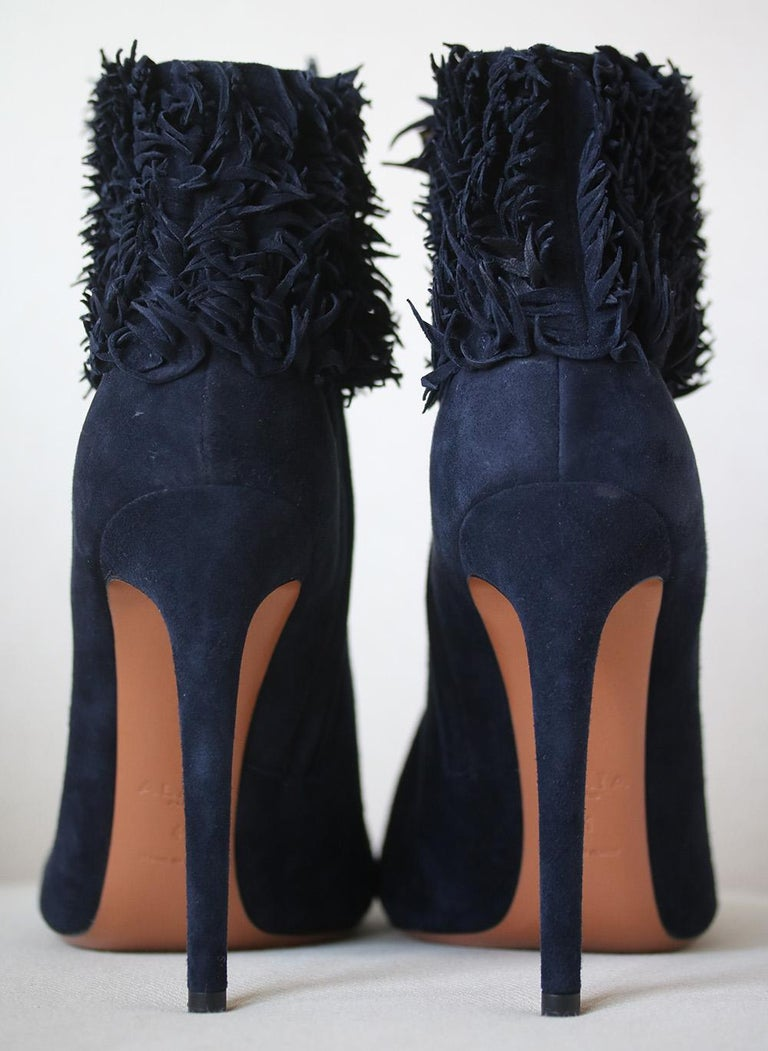 Azzedine Alaïa Fringe Suede Boots  In New Condition For Sale In London, GB