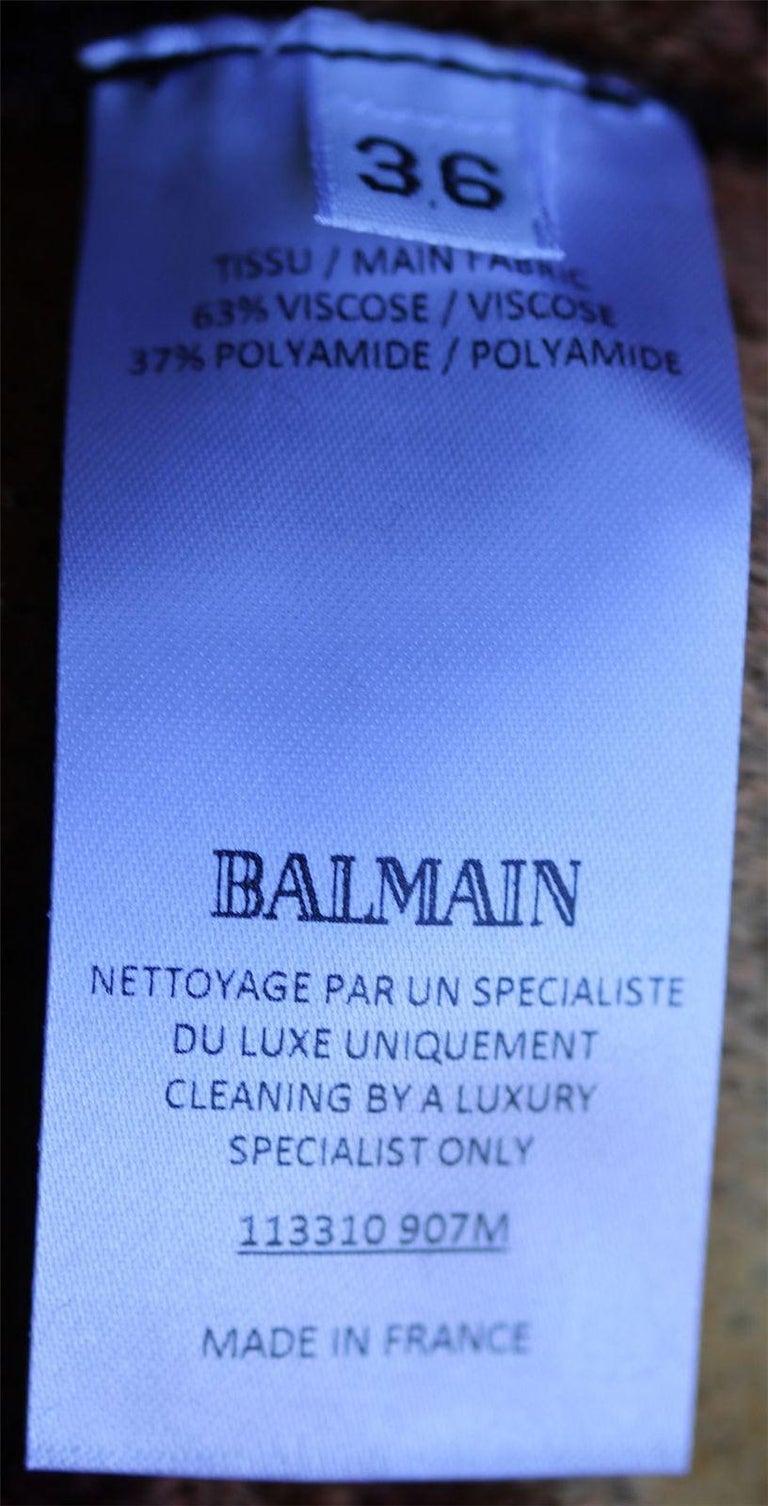 Balmain Chenille Ombre Sheath Dress For Sale 1