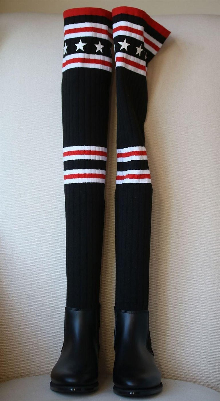 ca56f88ca Black Givenchy Storm Over-The-Knee Boots For Sale