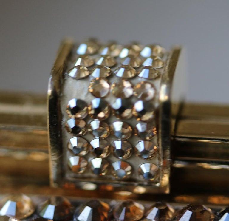Judith Leiber Leopard-Print Fine-Crystal Embellished Clutch For Sale 3
