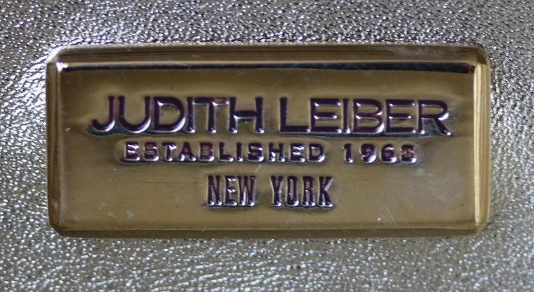 Judith Leiber Leopard-Print Fine-Crystal Embellished Clutch For Sale 5