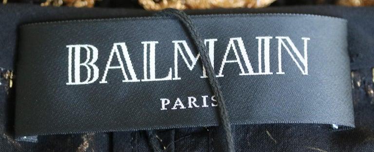 Women's Balmain Metallic Tweed Fringe Long Cardigan For Sale